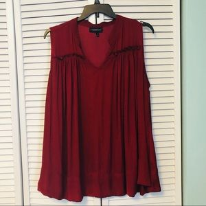 Lane Bryant deep red sleeveless blouse size 22